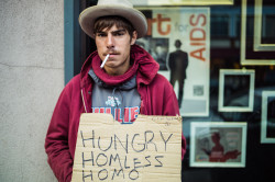 hungry homeless homo